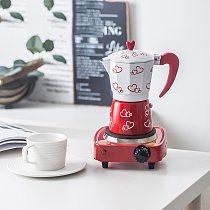 GURET 150/300/450ml Coffee Maker Italian Mocha Coffee Pot Aluminum Mocha Espresso Percolator Pot Coffee Kettle Cafe Tools