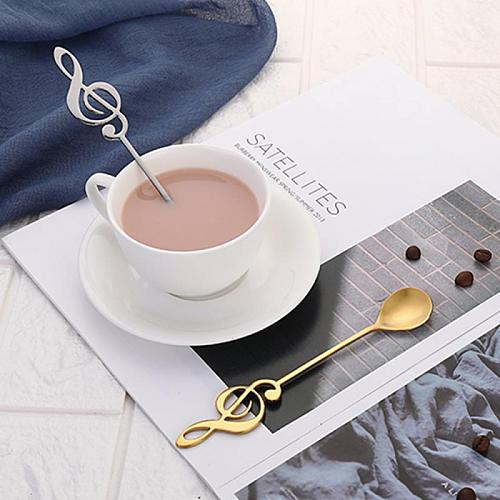 Musical Notes Stainless Steel Coffee Spoon Ice Cream Dessert Tea Spoon Creative Gift For Picnic Kitchen Accessories Cucharas