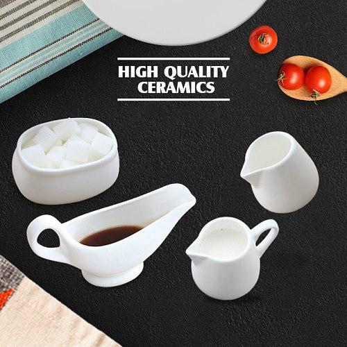 Classic White Milk Frother Ceramics Western Style Restaurant Milk Pitcher Simplicity Cafe Milk Jug Barista Tools Art Milk Cup