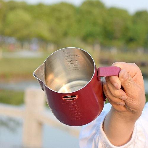 Stainless Steel Milk Frothing Jug Espresso Coffee Mug Pitcher Barista Craft Coffee Cappuccino Cups Latte Pot 360cc/600ml