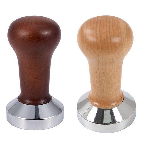 Coffee Tamper Wooden Handle Barista Espresso Machine Grinder 51mm for Coffee and Espresso Powder Hammer