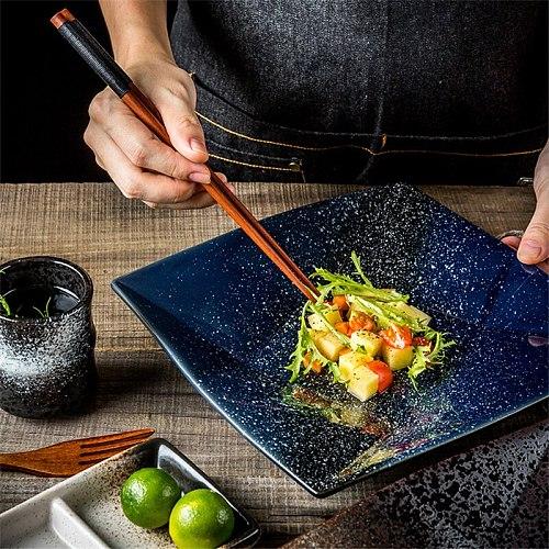 Japanese Style Ceramic Plate Creative Irregular Dishes Snack Plate Household Dinnerware Tableware Restaurant Dish Plate
