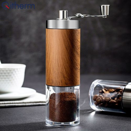 Manual Coffee Bean Grinder Mini Handmade Coffee Bean Burr Grinders Hand Manual Coffee Mill Machine Kitchen Tool