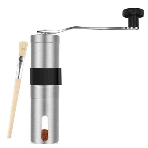 Manual Coffee Grinders,Stainless Steel Portable Coffee Grinders Manual Burr Reusable Coffee Filters,for Espresso,Etc