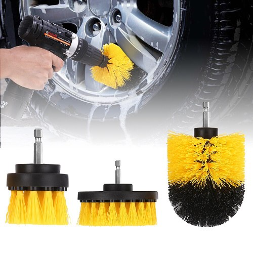 GOXAWEE 3PCS Power Scrubber Drill Brush Cleaning for Bathroom Surfaces Tub Shower Tile Grout Cordless Power Scrub Cleaning Kit