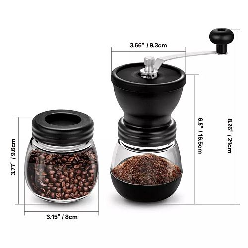 Hand Manual Coffee Portable Grinder Adjustable Ceramic Coffee Bean Mill Stainless Steel Kitchen Mills Tools High quality