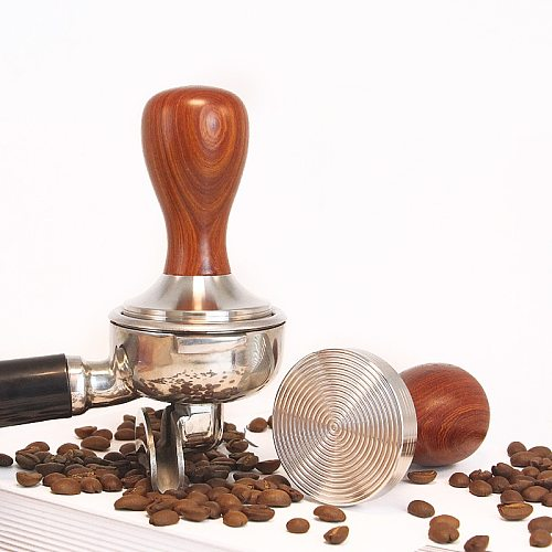 Stainless steel coffee tamper, calibrated pressure tamper for coffee and espresso 49/51/58mm