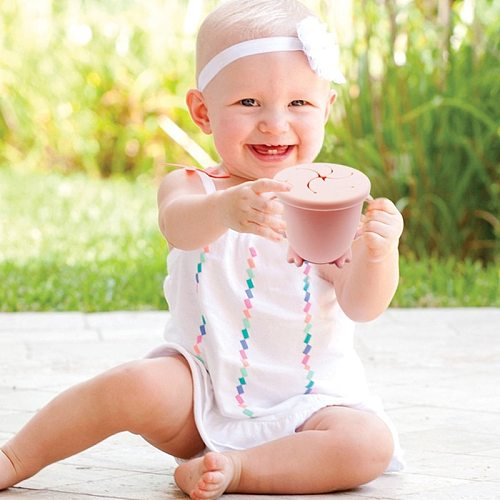 200ML Baby Infant Learning Feeding Food Bowl Cup with Handle Silicone Snack Dishes Storage Container Children Plate Tableware