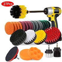 27 Piece Drill Cleaning Brush - Premium Scrub Pads & Sponge- With Extend Long Attachment- Power Scrubber Brush Cleaning Brus