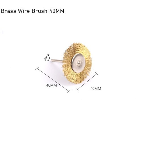 Wire Brush for Drill Stainless Steel Wheel Brushes Brass Brush Accessories for Rotary Tools Grinding Sanding Polishing