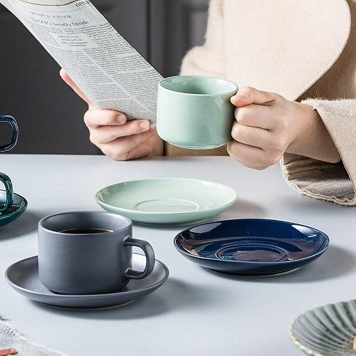 1set 230ml Bone China Ceramic Coffee Cup Saucer Set English afternoon Tea cup Coffeeware Porcelain Mug and Saucer for Coffee
