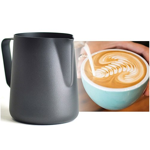 Stainless Steel Frother Cup Milk Frothing Pitcher Espresso Coffee Cup Coffee Milk Pot  Frother Frothing Jug