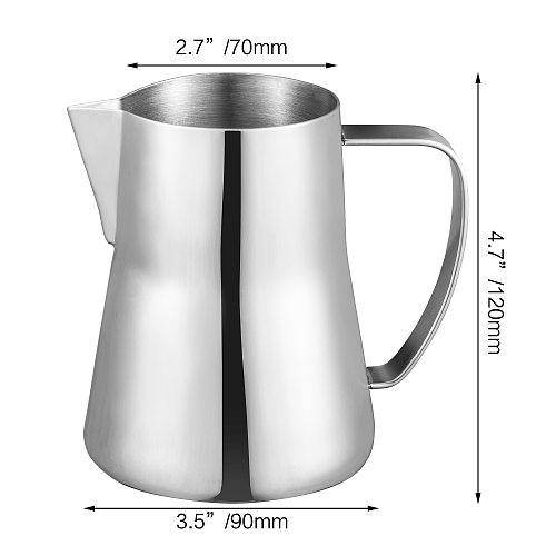 Milk Frothing Pitcher  Stainless Steel Frothing Pitcher Espresso Coffee Barista Craft Latte Frothing Pitcher Milk  Creamer Jug