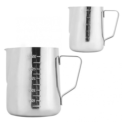 Milk Jug Household Stainless steel Coffee Frothing Pitcher Pull Flower Cup Milk Frothing Cup