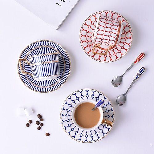 Coffee Cup Bone China Tea Cups And Saucer Sets Ceramic Mug Porcelain Coffeeware Sets  Coffe British Afternoon Tea Birthday Gift