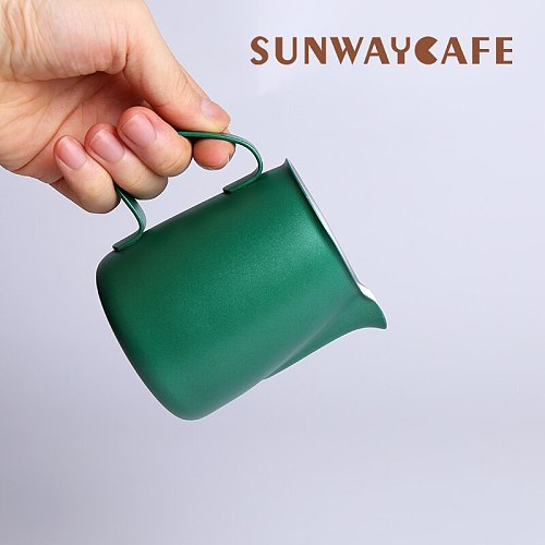 Stainless Steel Frothing Pitcher Pull Flower Cup Espresso Cappuccino Art Pitcher Jug Milk Frothers Mug Coffee Tools For Barista