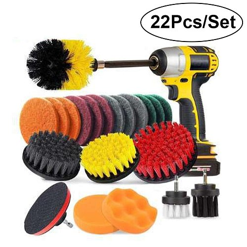 22 Sets Of Brushes Customized Electric Drill Brush Disc Car Cleaning Ground Polishing Polishing Electric Drill Brush