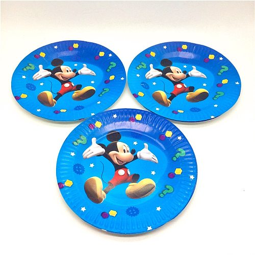 63Pcs Mickey Mouse Theme Cartoon Kids Boys Baby Birthday Decorative Party Event Supplies Favor Items For Children 10 People