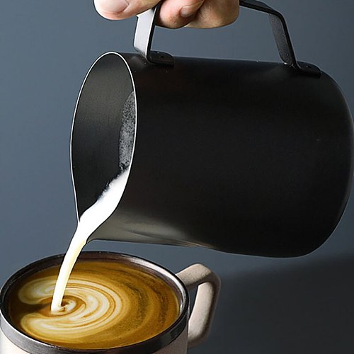 350/600ML Durable NonStick Stainless Steel Milk Frothing Pitcher Espresso Coffee Barista Craft Latte Cream Frothing Jug Pitcher