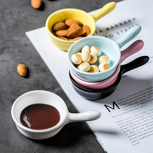 Ceramic Sauce Dish Solid Color Dipping Plate Seasoning Dish Sauce Sauce Dish Seasoning Plate for Home Restaurant