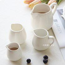 Simple Porcelain Milk Cans Jug Hotel Western Restaurant Cafe Creamer Jar Honey Jar Coffee Container Handheld Coffee Cups LA557