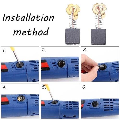 2Pcs Electric Drill Carbon Brush Spare Part For DEWALT BOSCH Electric Tool S18 Wholesale&DropShip