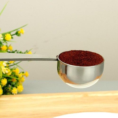2 In 1 Coffee Powder Spoon Stainless Steel Press Powder Hammer Measuring Tamper Tea Coffee Machine Accessories Kitchen Tools