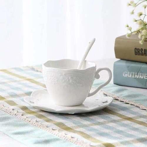 Ceramic Coffeeware Sets White Porcelain Tea Pot Coffee Cup & Saucer Milk Jug Sugar Bowl European English Afternoon Tea 2021