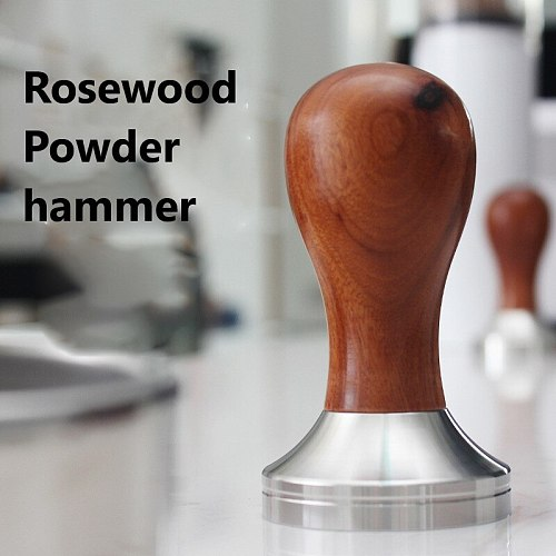 304 Stainless Steel Coffee Powder Press Solid Wood Handle Cloth Powder Hammer Italian Espresso Machine Coffee Maker Tampers