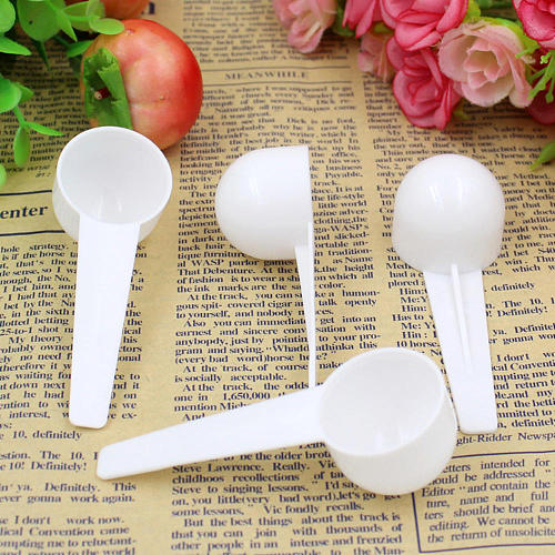 10Pcs 10ml 5g Food Grade Reusable Plastic Measuring Spoon Coffee Teaspoon Milk Powder Spoon Multifunctional Kitchen Spoons