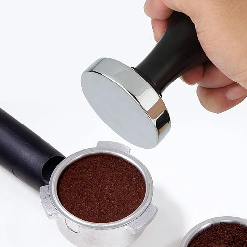 50% Hot Sale 51mm/53mm/58mm Stainless Steel Coffee BeansPress Tamper Espresso Powder Grinder for Espresso Mat Powder Hammer