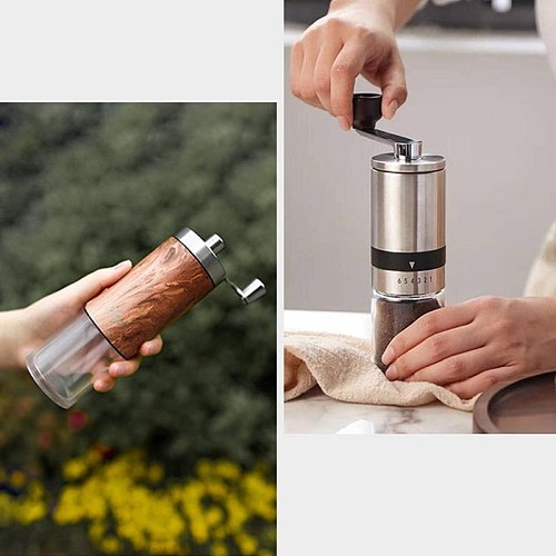 YouPin Zigo Mini Stainless Steel Manual Coffee Bean Grinder  Small and Portable Even Powder  Whole Body Detachable Washing