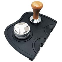 Flat Coffee Tampers Tools With Double Coffee Mat 51mm 304 Stainless Steel 3 Angle Coffee Tamper
