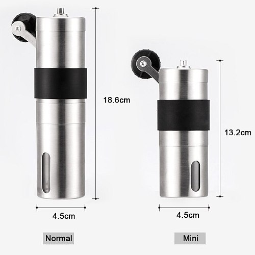 New Manual Coffee Grinder Mini Hand Conical Burr Espresso Grinder Coffee Been Mill Tools Ceramic Movement for Handmade Coffee