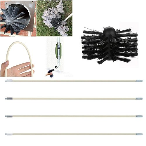 Drilling Bit Brush Rods Chimney Cleaner Kit Fireplaces Stoves Stoves Sweeping