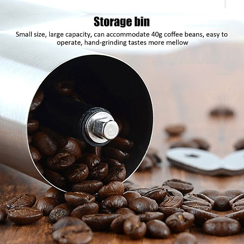 Silver Coffee Grinder Mini Stainless Steel Hand Manual Handmade Coffee Bean Grinders Mill Kitchen Tool Grinders