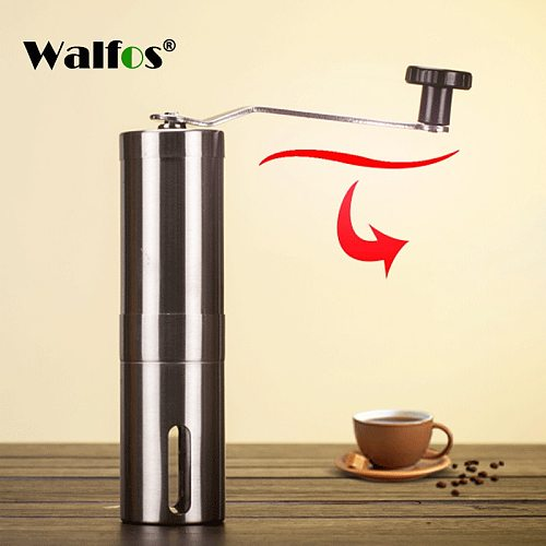 Silver Coffee Grinder Mini Stainless Steel Hand Manual Handmade Coffee Bean Grinders Mill Kitchen Grinding Coffee Making Tools