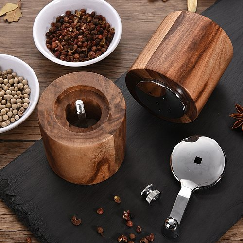 Manual Salt and Pepper Mills Solid Wood Pepper Grinders with Adjustable Coarseness By Ceramic Rotor Kitchen BBQ Cooking Tools
