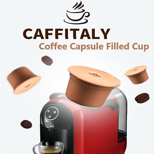 3pcs/Set Refillable Dolce Gusto Coffee Capsule Nescafe Pod System Nespresso Tassimo Reusable Capsule Café Coffeeware 3 Colors