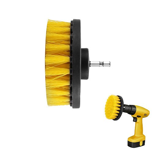 4inch Drill Power Scrub Clean Brush for Leather Plastic Wooden Furniture Car Interiors  Power Cleaning Brush