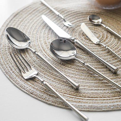New Sliver Cutlery Set Luxury Dinnerware 1 Pieces Mirror Polishing Tableware 304 Stainless Steel Dinner Knife & Fork