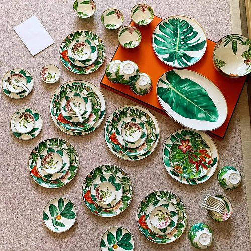 2021 New Arrival Tableware Set Jingdezhen High-End China Household Bowl and Dish Luxury Phnom Penh Gift Porcelain Hylaea Plates