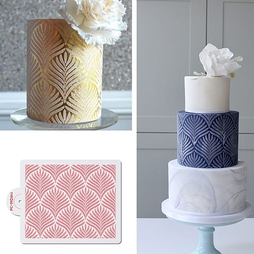 Wheat Spike Pattern Cake Stencil Plastic Lace Cake Boder Stencils Template DIY Drawing Mold Cake Decorating Tool Bakeware