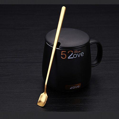 4pc Coffee Tea Stir Spoon Long Handle Spoons Eco-Friendly Stainless Steel Tableware Kitchen Supplies