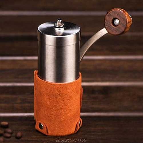 Manual Coffee Bean Grinder Mill Large Capacity Hand Crank Portable Travel Camping Adjustable Multifunction  A02 21 Dropship