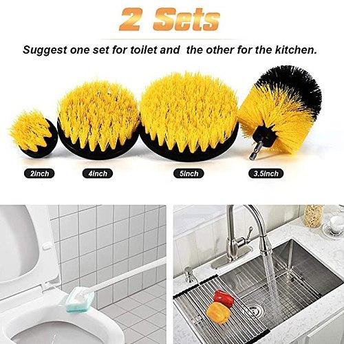 UNTIOR 3-37Pcs/Set Electric Scrubber Brush Drill Brush Kit Plastic Round Cleaning Brush For Carpet Glass Car Tires Nylon Brushes