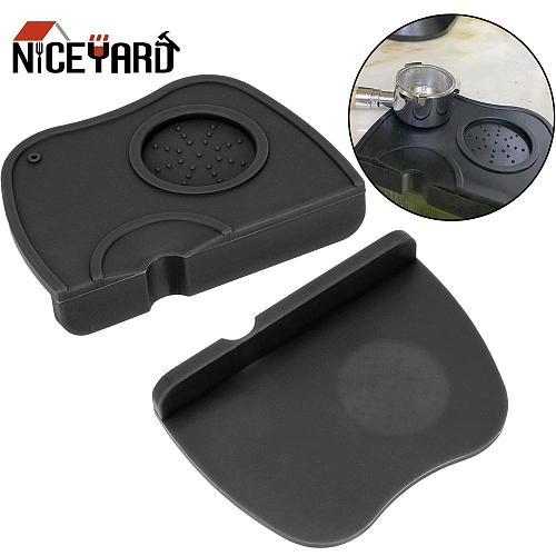 Silicone Rubber Corner Mat Espresso Coffee Tamper Mat  Slip Resistant Pad Tool Holder