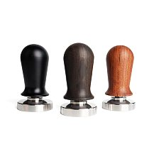 Calibrated Tamper Coffee Press Tool, 51/53/58mm Coffee Tamper with 304 Stainless Steel Base & Solid Wood Handle