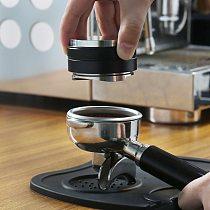 2 in 1 Espresso 51/53/58MM Adjustable Dual Head Coffee Leveler & Tamper Nespresso Coffee Powder Hammer for Portafilter Manual