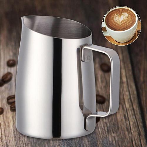 400ML Stainless Steel DIY Coffee Espresso Jug Latte Milk Frothing Jug Espresso Coffee Barista Craft Pitcher Cup Coffeeware
